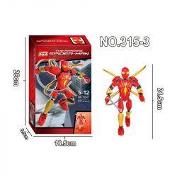 XSZ KSZ 315-3 Xếp hình kiểu Lego MARVEL SUPER HEROES The Amazing Spider-Man người nhện siêu đẳng 60 khối