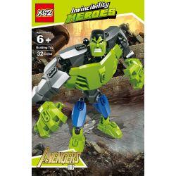 XSZ KSZ 506 Xếp hình kiểu Lego MARVEL SUPER HEROES Invincibility Heroes Hard Green Giant Green Gã Khổng Lồ 32 khối