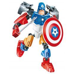 XSZ KSZ 508 Xếp hình kiểu Lego MARVEL SUPER HEROES Invincibility Heroes Hard American Captain Đội Trưởng Mỹ 31 khối