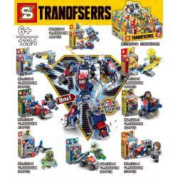 SHENG YUAN SY 1224 1224-1 1224-2 1224-3 1224-4 1224-5 1224-6 1224-7 1224-8 Xếp hình kiểu Lego TRANSFORMERS Tranofserrs Deformation Robot Optimus Zhuochi 8IN1 8 Combination Optimus Prime Mech 8IN1 8 Kế