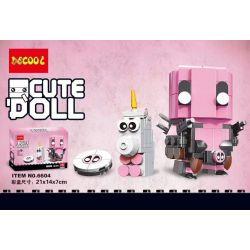 Decool 6604 Jisi 6604 Xếp hình kiểu Lego BRICKHEADZ Pink Deadpool Gwen Pai Pink Deadpool Gwenza 181 khối