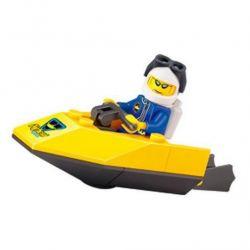 Enlighten 1209 Qman 1209 Xếp hình kiểu Lego CITY SuperPigboat Diving Water Motorboat Mô Tô Nước 19 khối