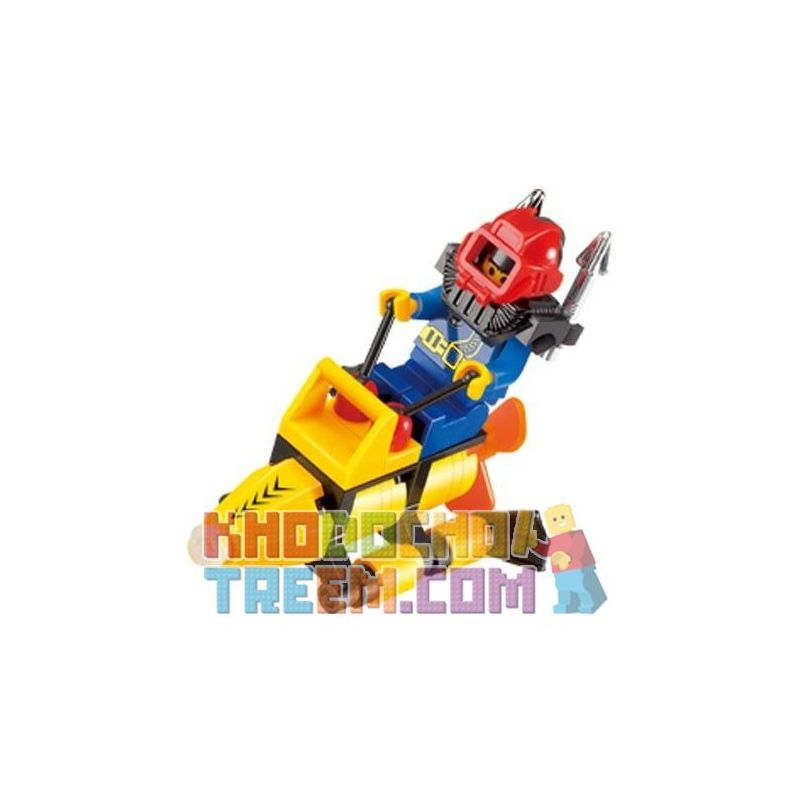 Enlighten 1211 Qman 1211 Xếp hình kiểu Lego CITY SuperPigboat Seabed Diving Seabed Search Tìm Kiếm Trên Biển 29 khối