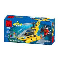 Enlighten 1215 Qman 1215 KEEPPLEY 1215 Xếp hình kiểu Lego CITY Dolphin Watching Boat Thuyền ngắm cá heo 100 khối