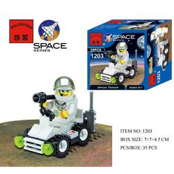 Enlighten 1203 Qman 1203 KEEPPLEY 1203 Xếp hình kiểu Lego CITY Mars Rover Mars rover 35 khối