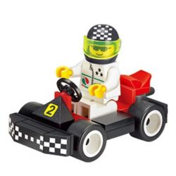 Enlighten 1204 Qman 1204 KEEPPLEY 1204 Xếp hình kiểu Lego SPEED RACER Kart Racing Đua xe kart 33 khối