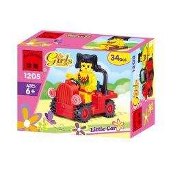 Enlighten 1205 Qman 1205 KEEPPLEY 1205 Xếp hình kiểu Lego FRIENDS Small Station Wagon Toa xe ga nhỏ 34 khối