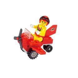 Enlighten 1207 Qman 1207 Xếp hình kiểu Lego FRIENDS Girls Little Car Girl Small Plane Máy Bay Nhỏ 25 khối