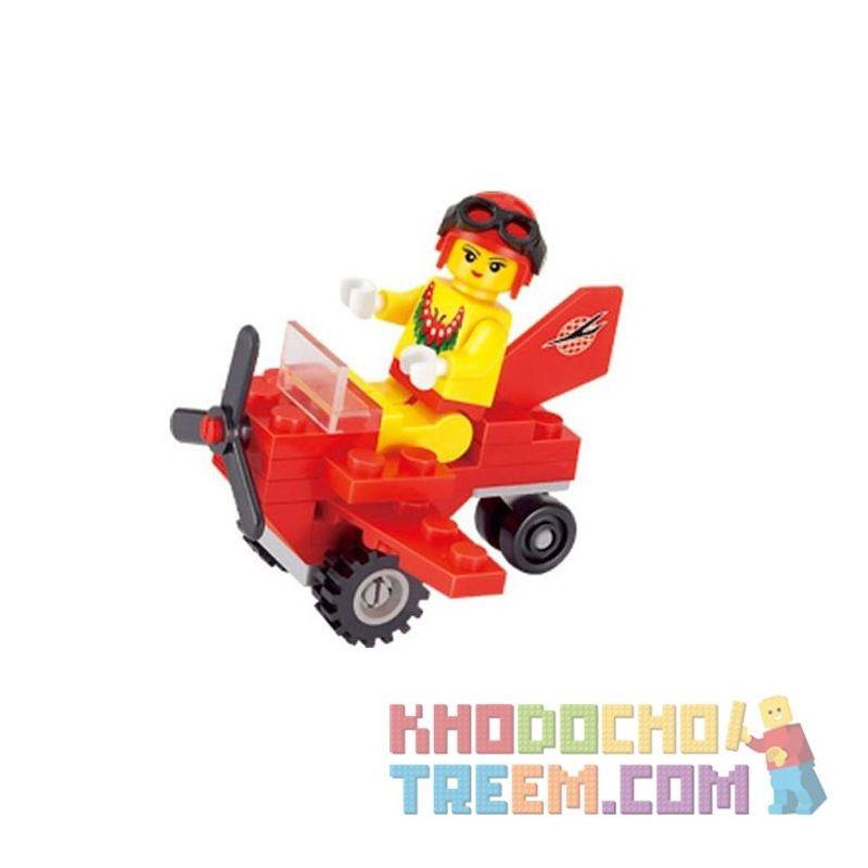 Enlighten 1207 Qman 1207 KEEPPLEY 1207 Xếp hình kiểu Lego FRIENDS Small Plane máy bay nhỏ 25 khối