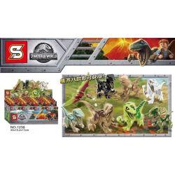 SHENG YUAN SY 1238 1238-1 1238-2 1238-3 1238-4 1238-5 1238-6 1238-7 1238-8 Xếp hình kiểu Lego Dinosaur World Jurassic World 8 Dinosaurs 8 Con Khủng Long gồm 8 hộp nhỏ 83 khối