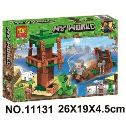 Bela 11131 Lari 11131 Xếp hình kiểu Lego MINECRAFT My World Scenes Cảnh 161 khối