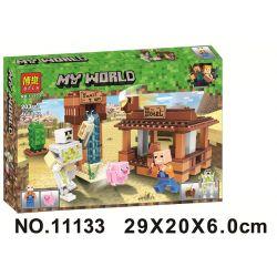 Bela 11133 Lari 11133 Xếp hình kiểu Lego MINECRAFT My World Scenes Cảnh 203 khối