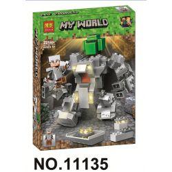Bela 11135 Lari 11135 Xếp hình kiểu Lego MINECRAFT My World Scenes Cảnh 221 khối