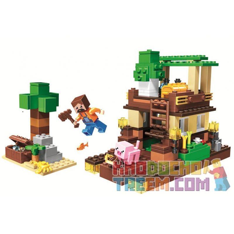 Bela 11136 Lari 11136 Xếp hình kiểu Lego MINECRAFT Scenes Cảnh 248 khối