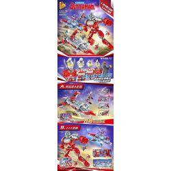 PanlosBrick 690005 Panlos Brick 690005 Xếp hình kiểu Lego ULTRAMAN Altman Ottman, Zat Base Máy Bay Chiến đấu Ultraman, Căn Cứ ZAT