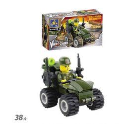 Kazi KY6612 6612 Xếp hình kiểu Lego MILITARY ARMY Military Series Pioneer Assault Xe Tấn Công Tiên Phong 38 khối