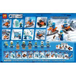 LELE 28025 Xếp hình kiểu Lego CITY Polar Explorer Carrier 8 Models 8 Loại Xe Minifigure Thám Hiểm địa Cực