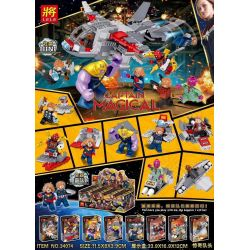 LELE 34074 Xếp hình kiểu Lego SUPER HEROES Captain Marvel Fighter 8IN1 8 Combinations Máy bay chiến đấu Captain Marvel 8IN1 8 tổ hợp