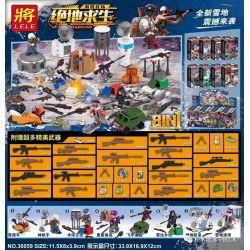LELE 36059 Xếp hình kiểu Lego PUBG BATTLEGROUNDS Jedi Survival Stimuls Battlefield House, 8 Sleigh Vehicles, Gun Gunners, Water Tower Air Videks, Ruins Preparation, Speed Battle, Radar Replenishment C