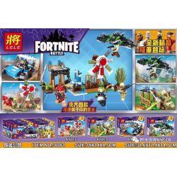 LELE 36061 36061-1 36061-2 36061-3 36061-4 Xếp hình kiểu Lego FORNITE Fortnite Battle Fortress Night Ruins Park Scene 4 Combination Sự Kết Hợp Của Ruin Park Scene 4 gồm 4 hộp nhỏ 267 khối
