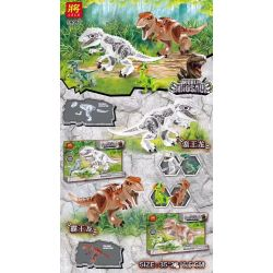 LELE 39097 39097-1 39097-2 Xếp hình kiểu Lego World Dinosaur Dinosaur Overlord Long, Shuangyan Dragon And Barbarian Wang Long, Xun Huilong Independent Set 2 Tyrannosaurus, Dilophosaurus, Wild Kingsaur
