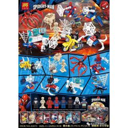 LELE 34071 Xếp hình kiểu Lego SUPER HEROES Parallel Universe Minifigure 8 Types Vũ trụ song song minifigure 8 loại