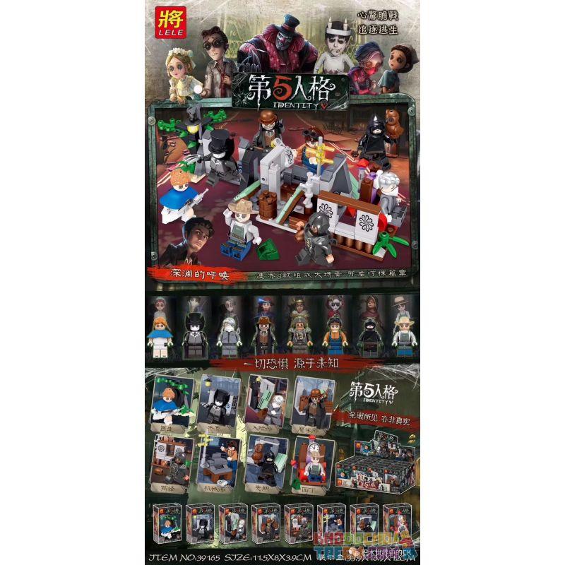 LELE 39165 Xếp hình kiểu Lego IDENTITY V 5th Personality Crisis Doctor, Jack, Enter The Teacher, Magician, Forward, Mechanic, Prophet, Gardener Nhân Vật Thứ 5 Bác Sĩ Minifigure, Jack, Người Phù Phép,