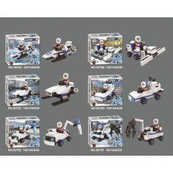 WINNER JEMLOU 5079 5079A 5079B 5079C 5079D 5079E 5079F Xếp hình kiểu Lego GOD OF WAR Ice-Breaking God Of War Breaking The Ice God, Liuhe One Machine Tàu Phá Băng Ares Six In One Mech gồm 6 hộp nhỏ