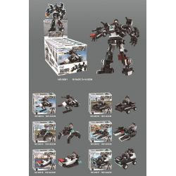 WINNER JEMLOU 5081 5081A 5081B 5081C 5081D 5081E 5081F Xếp hình kiểu Lego SWAT SPECIAL FORCE SWAT God Of War Explosion-proof God Of War Liuhe One Machine Chống Cháy Nổ Ares Six In One Mech gồm 6 hộp n