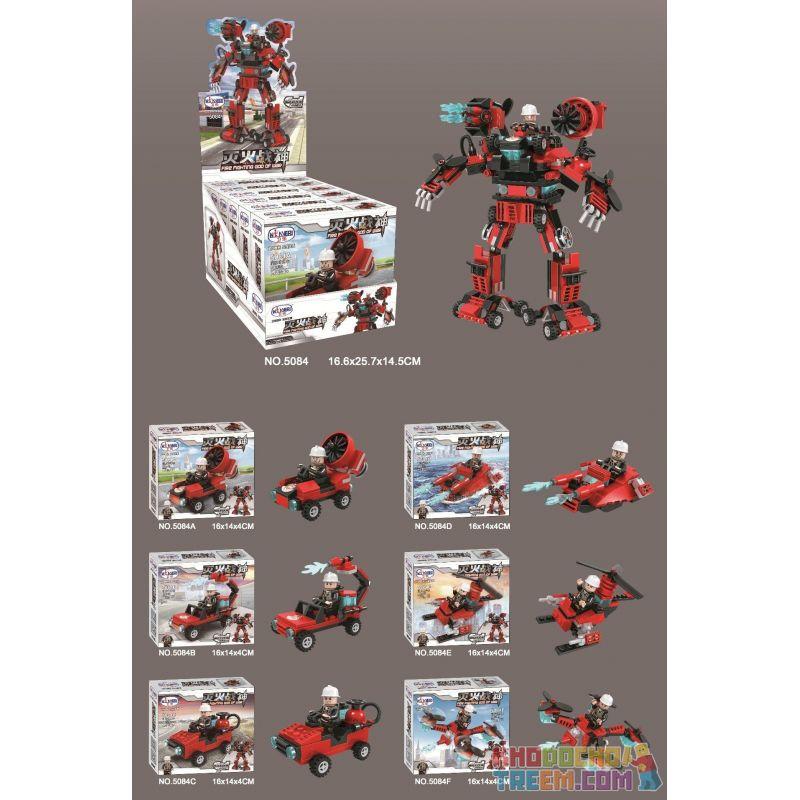 WINNER JEMLOU 5084 5084A 5084B 5084C 5084D 5084E 5084F Xếp hình kiểu Lego GOD OF WAR God Of Fire Fighting Six In One Mech God of Fire Fighting Six in One Mech gồm 6 hộp nhỏ