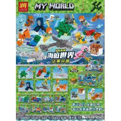 LELE 33242 Xếp hình kiểu Lego MINECRAFT Adventure Series Underwater World Faso Deep Diving Loạt phim phiêu lưu Thế giới dưới nước Faso lặn sâu