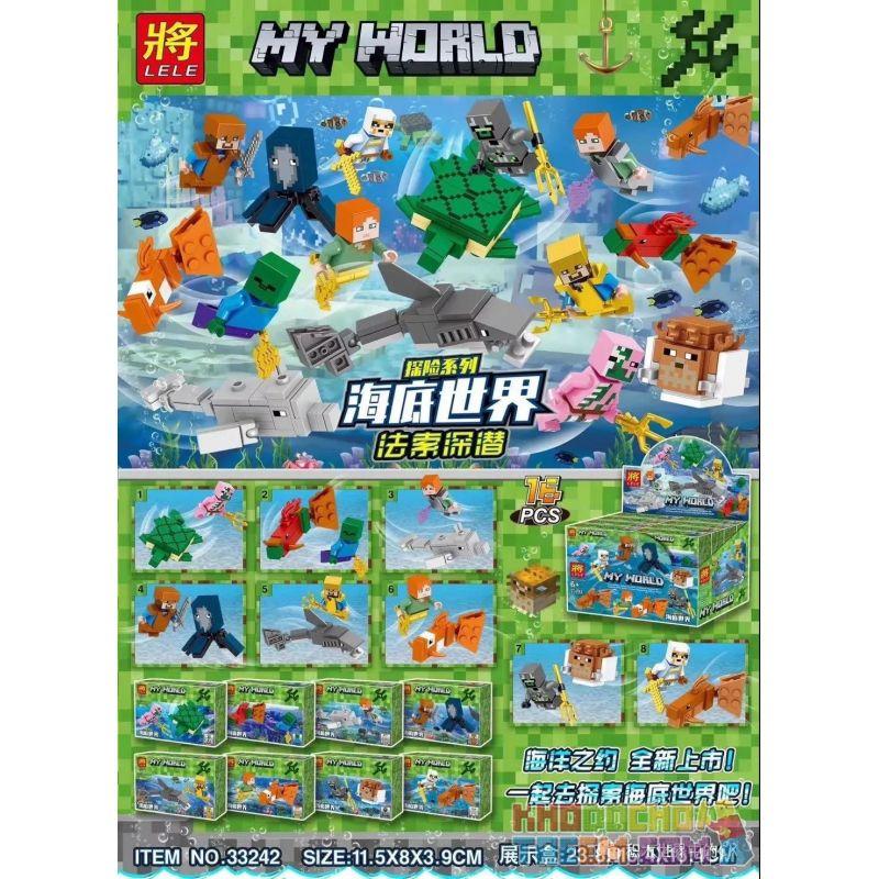 LELE 33242 Xếp hình kiểu Lego MINECRAFT My World Adventure Series Underwater Faste Deep Loạt Phim Phiêu Lưu Thế Giới Dưới Nước Faso Lặn Sâu