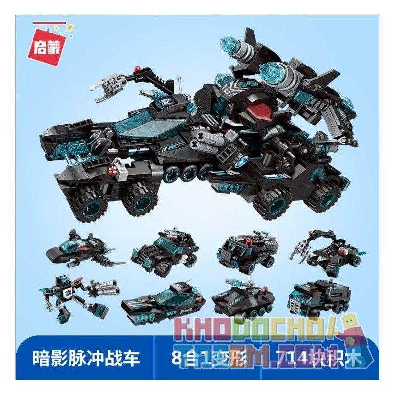Enlighten 1413 Qman 1413 KEEPPLEY 1413 Xếp hình kiểu Lego TRANSFORMERS The Legend Of Chariot Superset Change Super Tank Series 8 Legendary Tanks Dòng Siêu Xe Tăng 8 Xe Tăng Huyền Thoại 714 khối