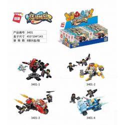 Enlighten 3401 3401-1 3401-2 3401-3 3401-4 Qman 3401 3401-1 3401-2 3401-3 3401-4 Xếp hình kiểu Lego POWER SQUAD Canada Đội Chói Lọi gồm 4 hộp nhỏ