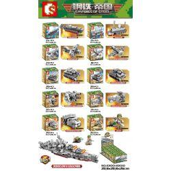 SEMBO 101001 101002 101003 101004 101005 101006 101007 101008 101009 101010 Xếp hình kiểu Lego EMPIRES OF STEEL Steel Empire American Clothes Ahua Battle Ship 10in1 Thiết Giáp Hạm Lớp Iowa Của Hoa Kỳ