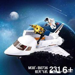 SLUBAN M38-B0736 B0736 0736 M38B0736 38-B0736 Xếp hình kiểu Lego SPACE Explore Space Shuttle Tàu Con Thoi 231 khối
