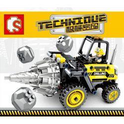 SEMBO 701200 Xếp hình kiểu Lego TECHNIC TECHINQUE Jaeger Code Simulation Drill Machine Máy Khoan Mô Phỏng 235 khối