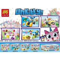 LELE 39134-3 39134-4 Xếp hình kiểu Lego Unicorn Cat Mèo kỳ lân gồm 2 hộp nhỏ