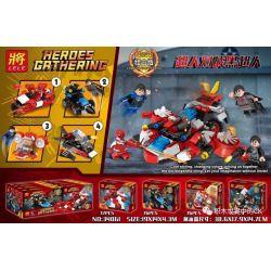 LELE 34061 34061-1 34061-2 34061-3 34061-4 Xếp hình kiểu Lego SUPER HEROES Heroes Gathering Superman Vs. Black Superman 4 Siêu Nhân Vs Siêu Nhân đen 4 gồm 4 hộp nhỏ 296 khối