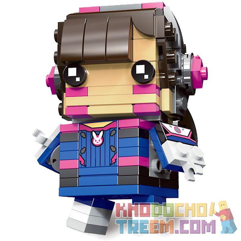 Decool 6847 Jisi 6847 Xếp hình kiểu Lego BRICKHEADZ D.VA 159 khối