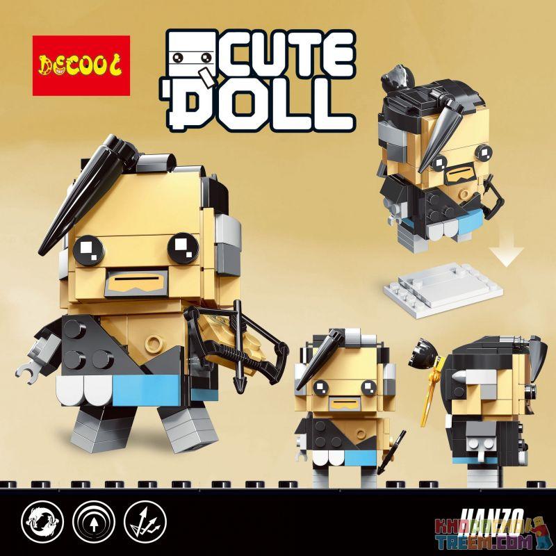 Decool 6848 Jisi 6848 Xếp hình kiểu Lego BRICKHEADZ Hanzo 130 khối