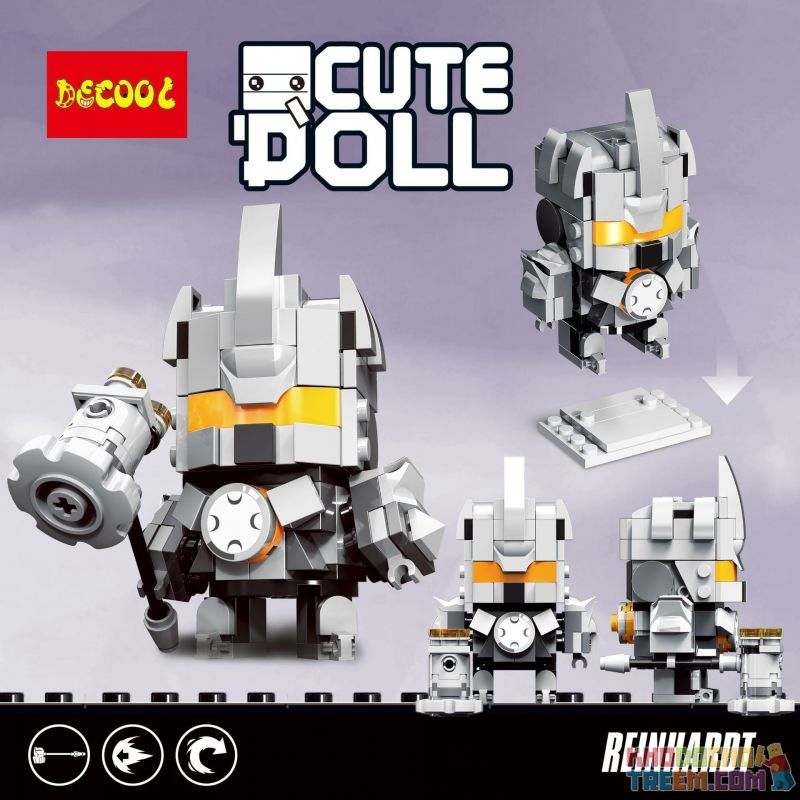 Decool 6851 Jisi 6851 Xếp hình kiểu Lego BRICKHEADZ Reinhardt 141 khối