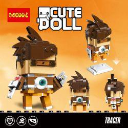 Decool 6852 Jisi 6852 Xếp hình kiểu Lego BRICKHEADZ CuteDoll Tracer Watching A Pioneer Hunting Người Truy Tìm 164 khối