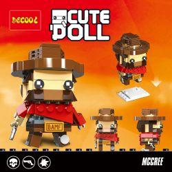 Decool 6853 Jisi 6853 Xếp hình kiểu Lego BRICKHEADZ CuteDoll Mccree Watching A Pioneer Western Denim McRe Western Denim McRE. 143 khối