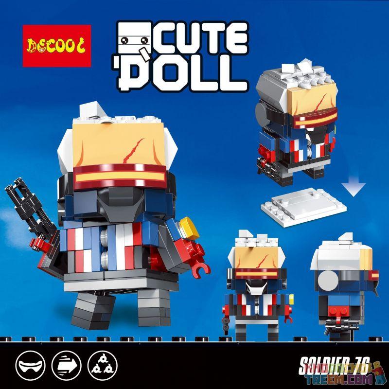 Decool 6854 Jisi 6854 Xếp hình kiểu Lego BRICKHEADZ Soldier 76 Người lính 76 120 khối