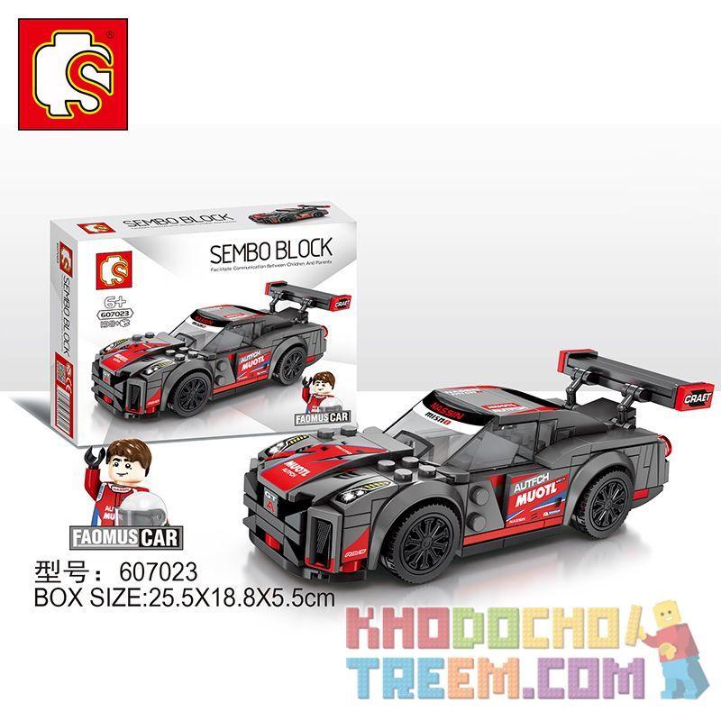 SEMBO 607023 Xếp hình kiểu Lego SPEED CHAMPIONS Nissan GT-R 138 khối