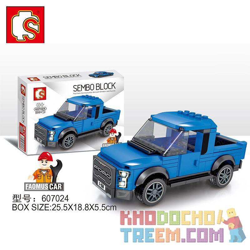 SEMBO 607024 Xếp hình kiểu Lego SPEED CHAMPIONS Ford Pickup 156 khối