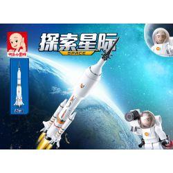 SLUBAN M38-B0735 B0735 0735 M38B0735 38-B0735 Xếp hình kiểu Lego SPACE Explore Saturn Rocket, Long March Rocket Tên Lửa Sao Thổ, Tên Lửa Tháng Ba Dài 167 khối