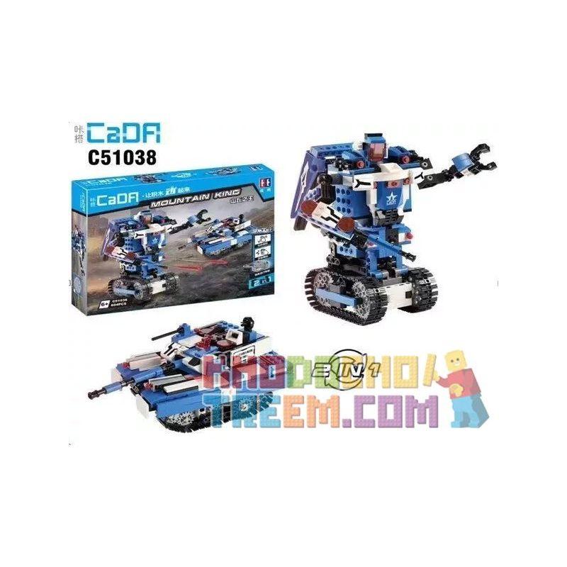 DOUBLEE CADA C51038 51038 Xếp hình kiểu Lego TECHNIC Mountain King King Of The Hill 2in1 Two Changes King Of The Hill 2in1 Hai Thay đổi lắp được 2 mẫu
