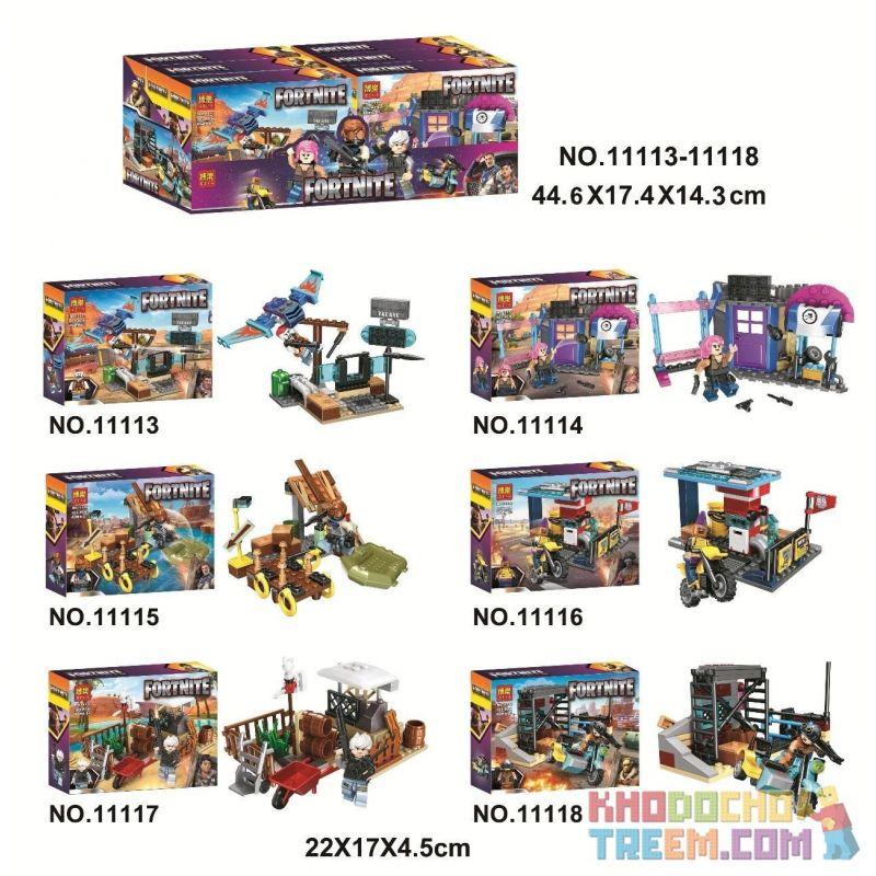 Bela 11113 11114 11115 11116 11117 11118 Lari 11113 11114 11115 11116 11117 11118 Xếp hình kiểu Lego FORNITE Fortnite Fortress Night Scene 6 Đêm Pháo đài 6 Cảnh Nhỏ gồm 6 hộp nhỏ